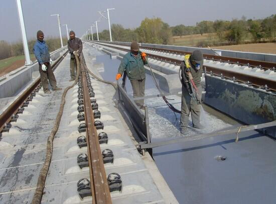 铁路聚脲防腐防水喷涂施工案例
